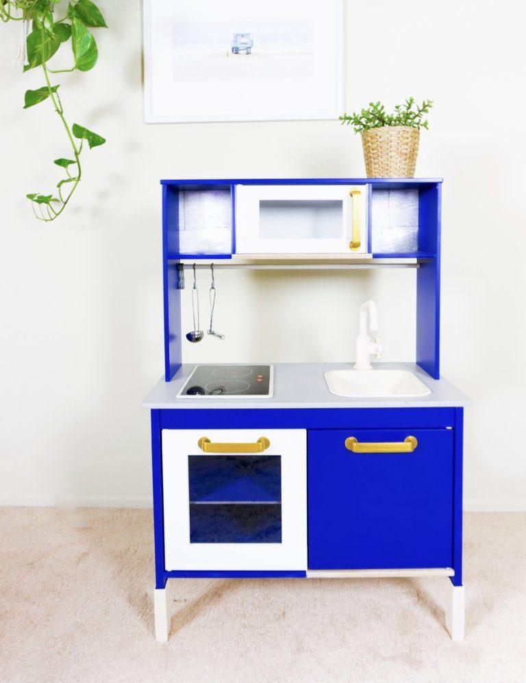 Ikea Duktig Play Kitchen Hack | Ikea Hack | Cafe Food Truck To Go | Malibu Beach | California