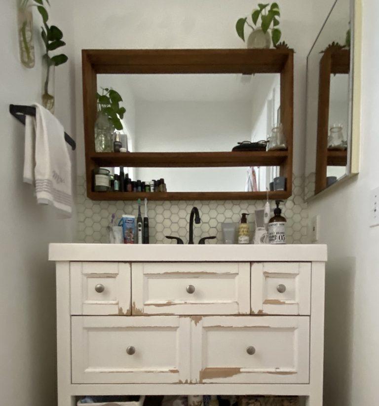 Giani Earl Grey Paint Bathroom Vanity Makeover