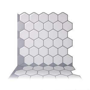 bathroom makeover | peel and stick tiles | tiffanieanne.com