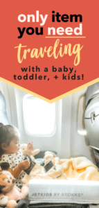 ONLY ITEM YOU NEED for flying with baby toddler kids
