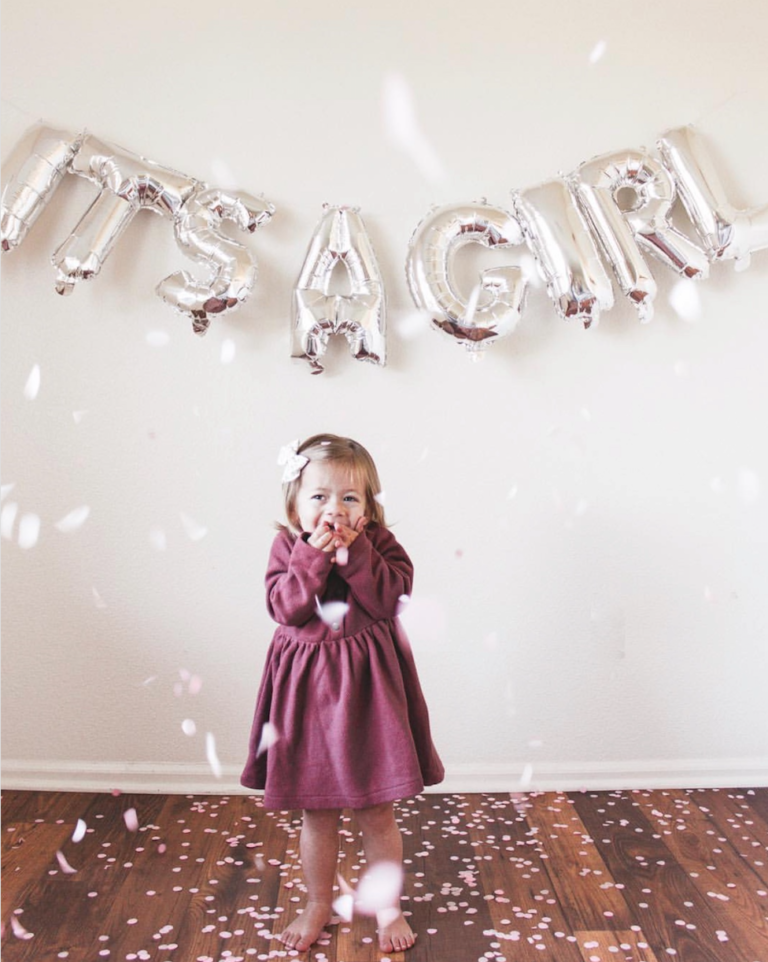 Gender Reveal Balloon Confetti 2 | Best Gender Reveal | Must See Gender Reveal Ideas! | tiffanieanne.com