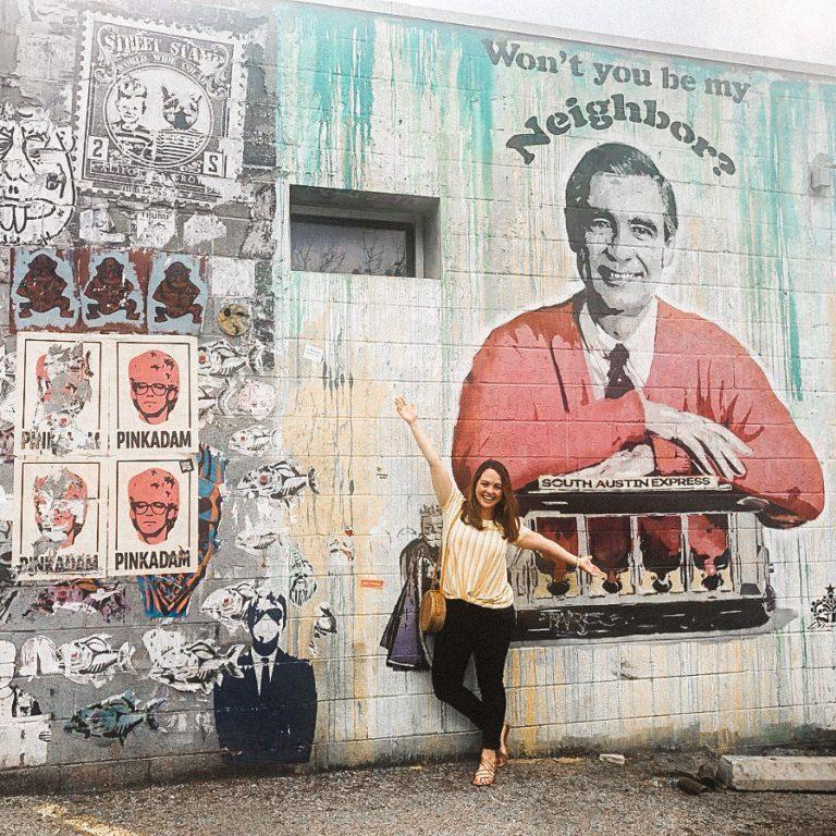 Mr. Rogers | Wall Mural Art | Austin Texas | tiffanieanne.com