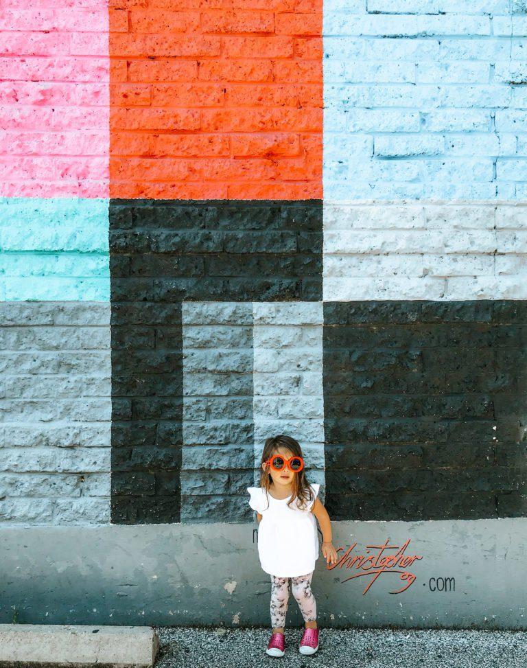 TV Technicolor Wall | Wall Mural Art | Austin Texas | tiffanieanne.com