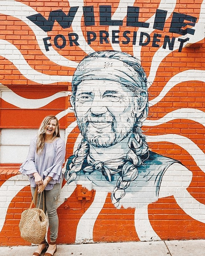 Willie for President | Wall Mural Art | Austin Texas | tiffanieanne.com
