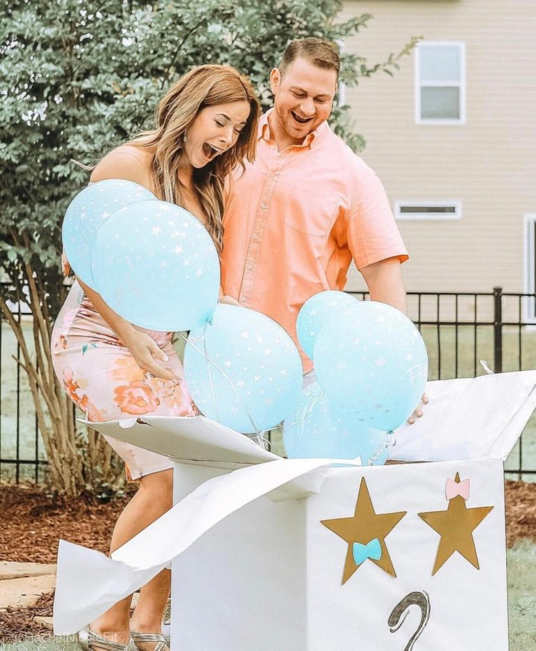 surprise box _ Best Gender Reveal _ Must See Gender Reveal Ideas! _ tiffanieanne.com