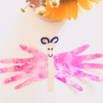 Hand Butterfly | Marble Shaving Cream Paint Art | Toddler DIY | tiffanieanne.com