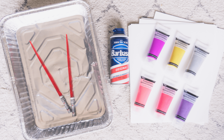 Materials | Marble Shaving Cream Paint Art | Toddler DIY | tiffanieanne.com