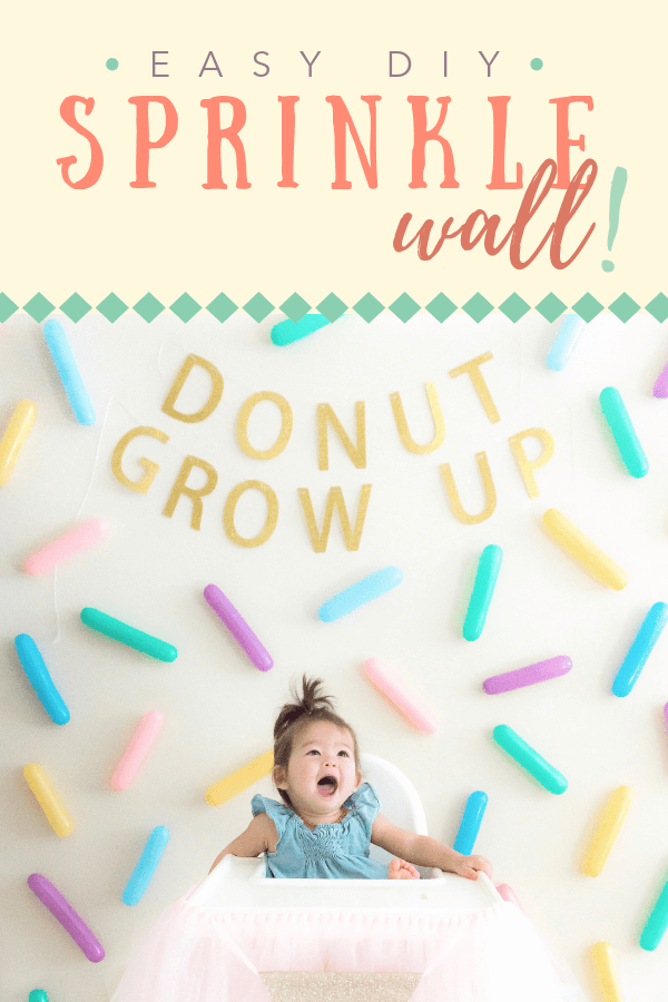 Sprinkle Wall | Donut Ice Cream Unicorn Birthday Party DIY | tiffanieanne.com