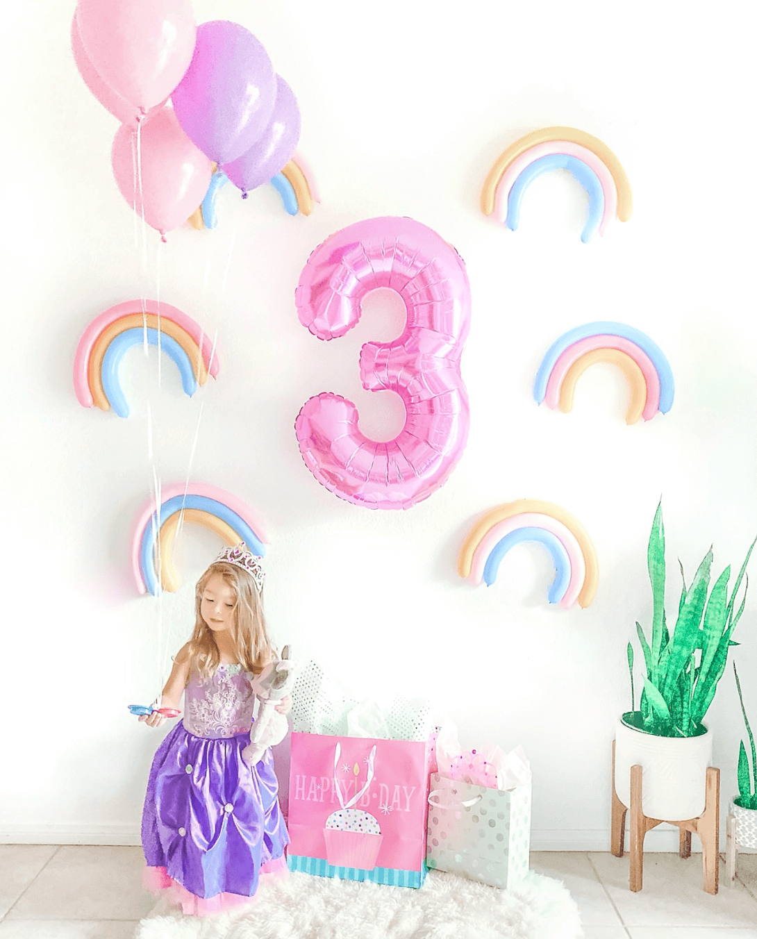 Rainbow Sprinkle Wall - Donut Ice Cream Colorful Unicorn Birthday Party DIY - tiffanieanne.com