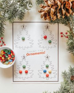 Count the Ornaments - FREE PRINTABLE - Christmas Learning Numbers Activity DIY - Toddler Montessori - tiffanieanne.com.jpg 2