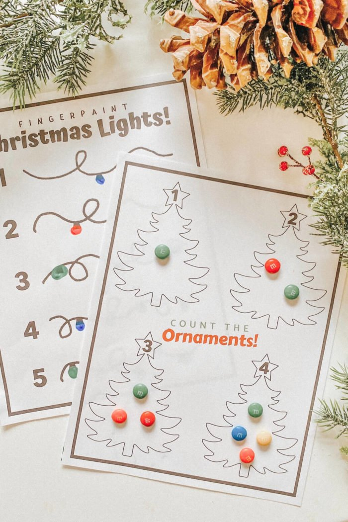 Count the Ornaments! •Christmas Learning Activity•