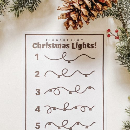 Fingerpaint Lights - FREE PRINTABLE - Christmas Learning Numbers Activity DIY - Toddler Montessori - tiffanieanne.com.jpg 2