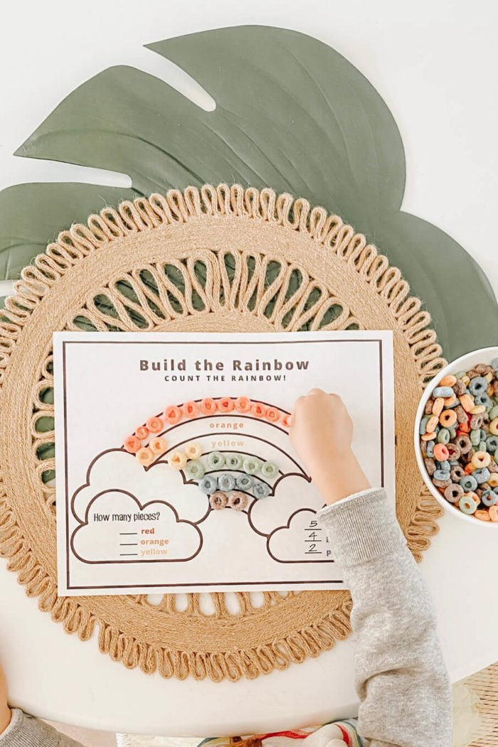 Build a Rainbow Count the Rainbow!•St. Patrick's Day Learning Activity•