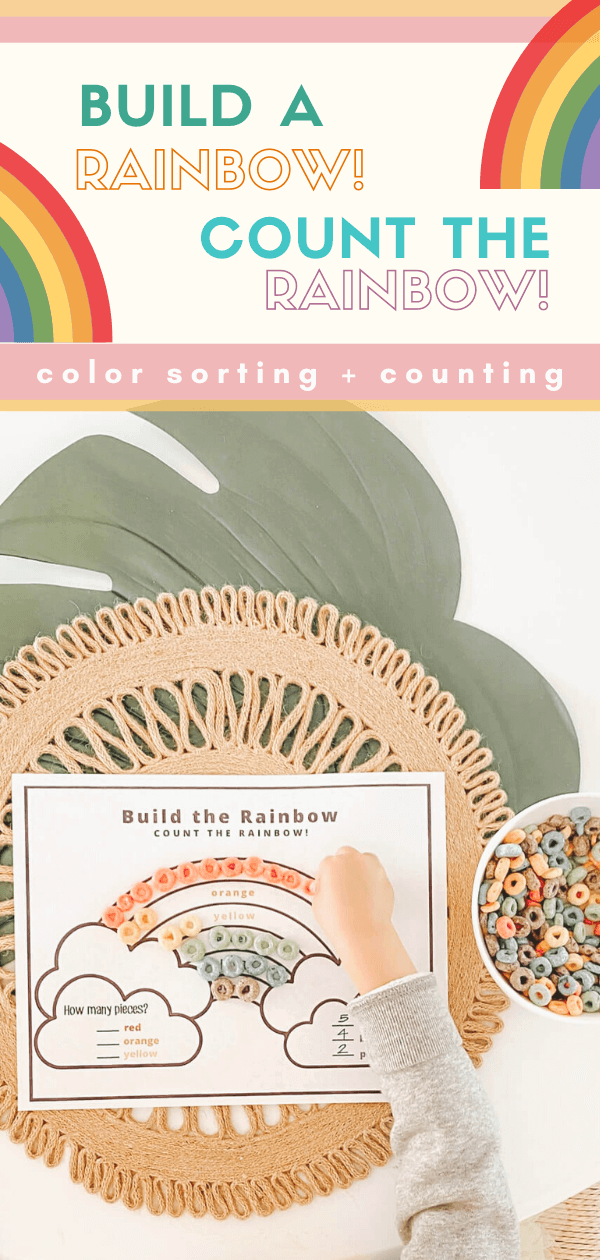 Build a Rainbow. Count the Rainbow! - FREE PRINTABLE - St Patrick's Day Crafts and Activity - Toddler Friendly - Learning Activity - Counting Activity - tiffanieanne.com