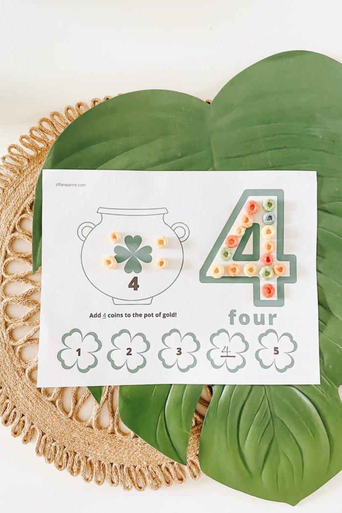 Number Play Dough Mats!•St. Patrick's Day Learning Activity•
