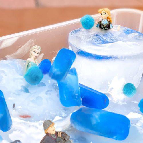 Frozen Sensory Table - Ice Rescue Game - Sensory Play - Sensory Bin - Anna Elsa - Frozen Activity - Frozen Activity - STEM - Disney - tiffanieanne.com