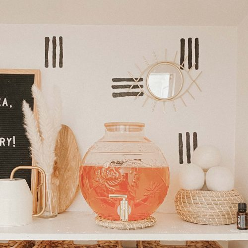 Laundry Room Makeover - Refresh - DIY Wallpaper - Tribal Lines Boho - tiffanieanne.com
