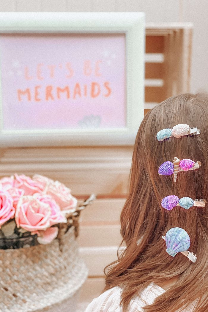 Mermaid Party!  •DIY Seashell Hair Clip Station•