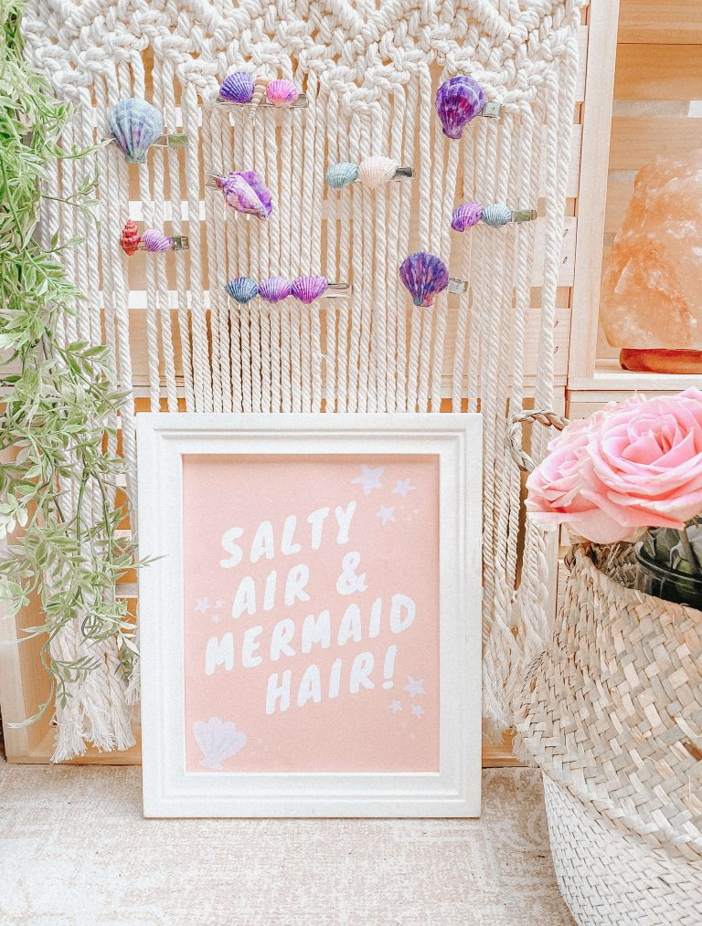 Mermaid Party - DIY Mermaid Hair - Seashell Beach Hair Clips - Mermaid Booth and Station 5
