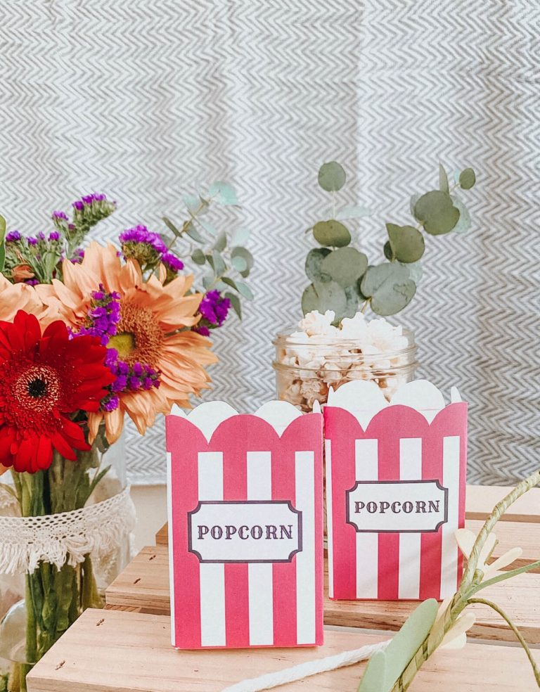 Popcorn Box Carton | Carnival Circus Theme Party | FREE PRINTABLES | birthday party | tiffanieanne.com 8