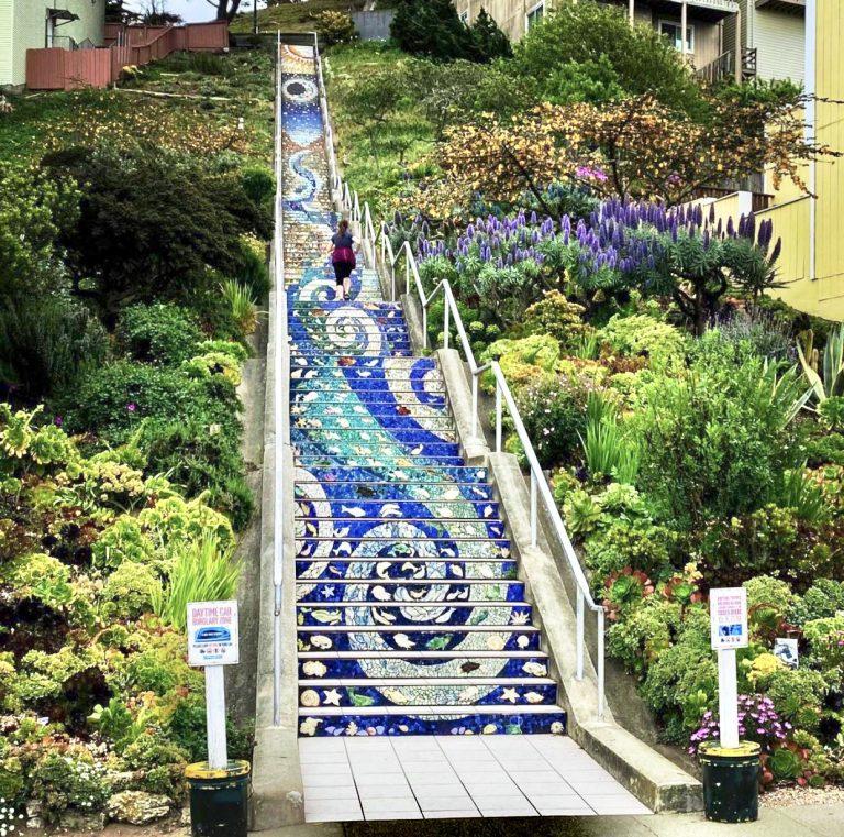 16th tiled mosaic stairs grandview park | Best Views in San Francisco | SF Instagram Worthy Photo Spots | SF Photography | tiffanieanne.com
