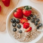 Berries and Cream Oatmeal | Dairy Free Vegan | Recovery Protein Lactation Oatmeal Breastfeeding Mama Recipes | Congee | Breastfeeding Tips | Lactation Cookie Alternative | tiffanieanne.com