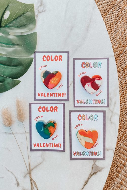Eco-Friendly & Sustainable <br> Valentine's Day <br>Heart Crayon Cards!