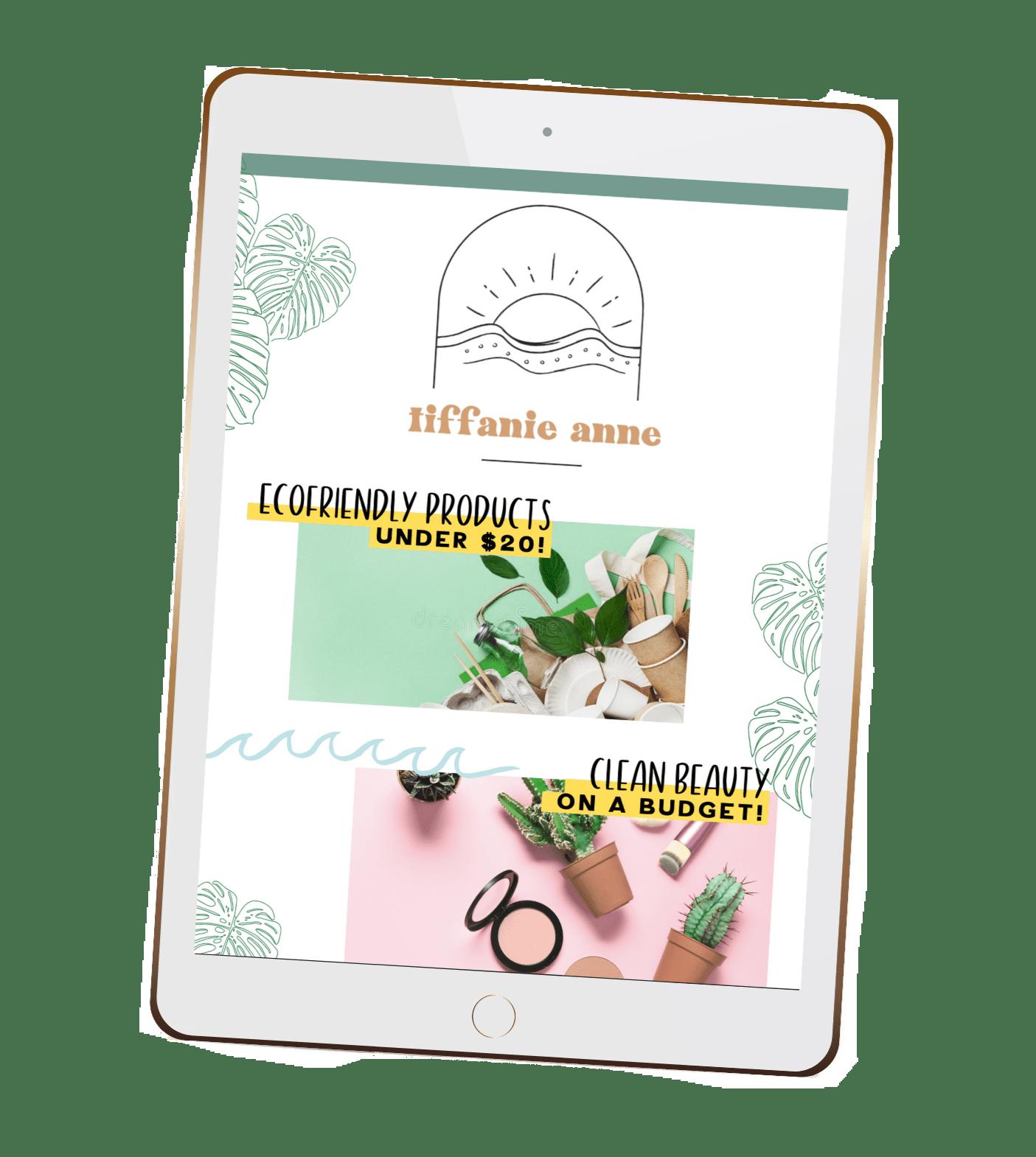 tiffanieanne.com newsletter png