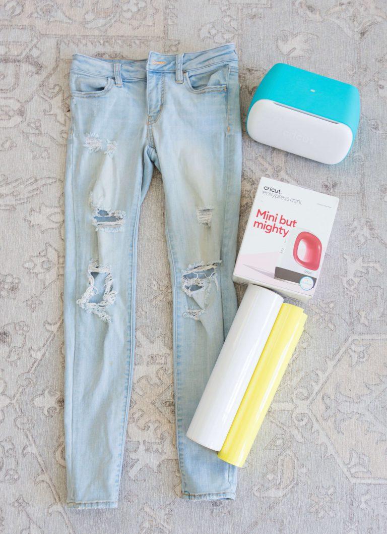Upcycle-jeans-clothes-rework-cricut-retro-tiffanieanne-8